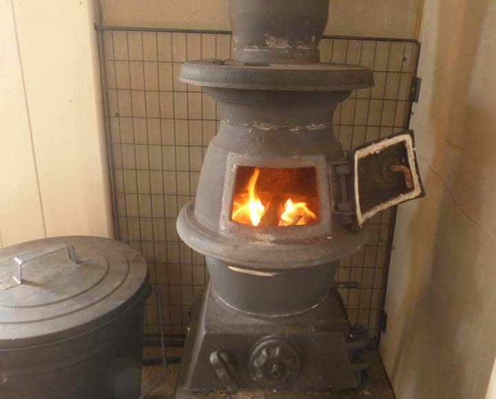 Get warm by our wood burner